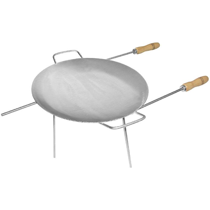 Disco 43cm Ferro Lixado C/ Cabos E Tripé